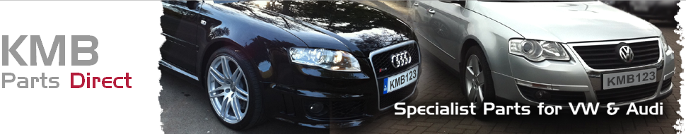 KMB Parts Direct - Specialist Parts for VW and Audi - Our logo and link to our home page.